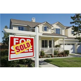 For sold sign with house