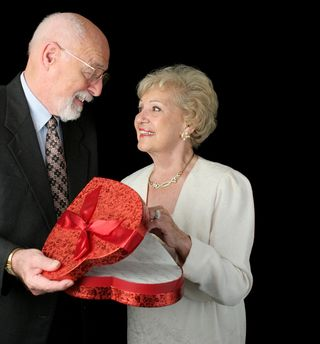 Couple with heart box