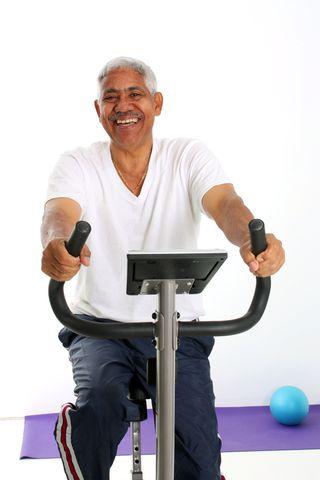 Grandpa exercising