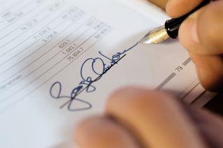 Signature on account statement