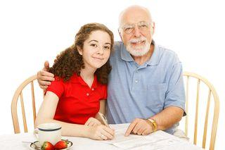 Grandpa study session