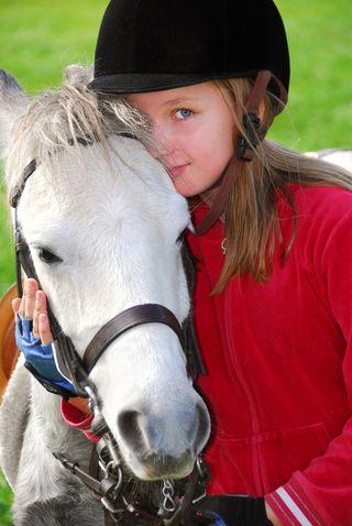 A young equestrian