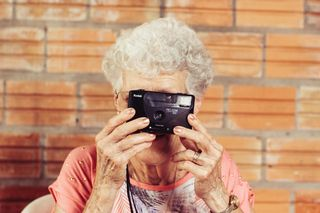 Granny with camera
